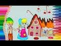 Jaś i Małgosia 👫 Dowiedz się kolory z zabawną stronę kolorowanki