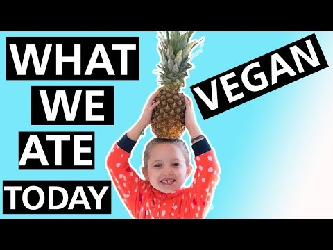 WHAT WE ATE TODAY AS A VEGAN FAMILY