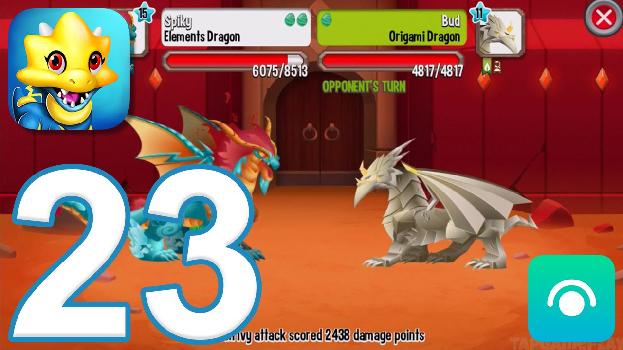 Dragon City Gameplay Walkthrough Part 23 Level 24 Origami Cup