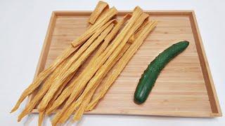 素食家常菜料理│腐竹最好吃的做法,不用炸不用蒸,加1條小黃瓜,營養美味,上桌瞬間被吃光│Vegan Recipe │EP185
