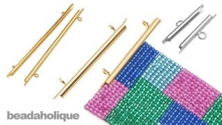 How to Use Slide End Tubes for Miyuki Delica Bead Weaving