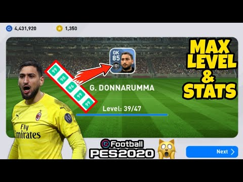 G Donnarumma Max Level Stats Pes 2020 Mobile Youtube