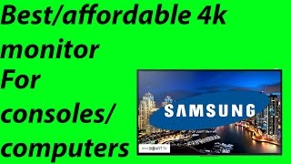 Best 4K Gaming Monitor For PS4 Pro + Macbook
