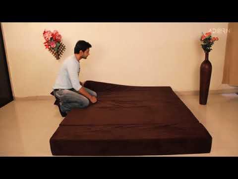 Adorn India easy 3 seater sofa cumbed