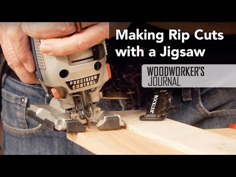 Making Rip Cuts with a Jigsaw