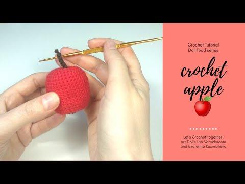 Happy amigurumi apple rattle | Crochet pattern lilleliis | 360x480