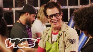 Drinking Tequila at a Paint and Sip Class with Johnny Knoxville and Chris Pontius
