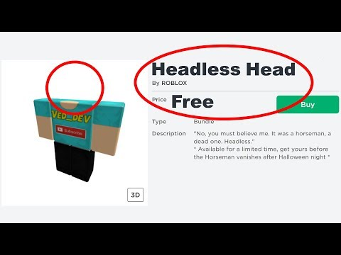 How To Get FREE HEADLESS HEAD On Roblox!
