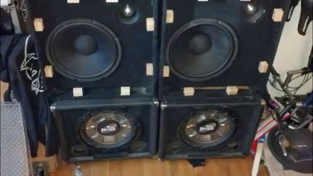 Custom Dj Speaker Boxes Built From Scratch 1000watts Mids