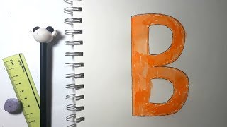 Learn alphabetically and draw the letter B
