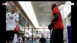 RARE  FOOTAGE: LATE OLIVER HARRISON SPARRING AND PADS WITH MARTIN MURRAY AT PUBLIC WORKOUT(MAY 2012)