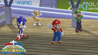 Mario & Sonic at the Olympic Winter Games (Wii) [4K] - Festival Mode (Team)