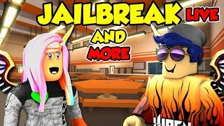 Jailbreak and More Games with Subs - Roblox Live Stream