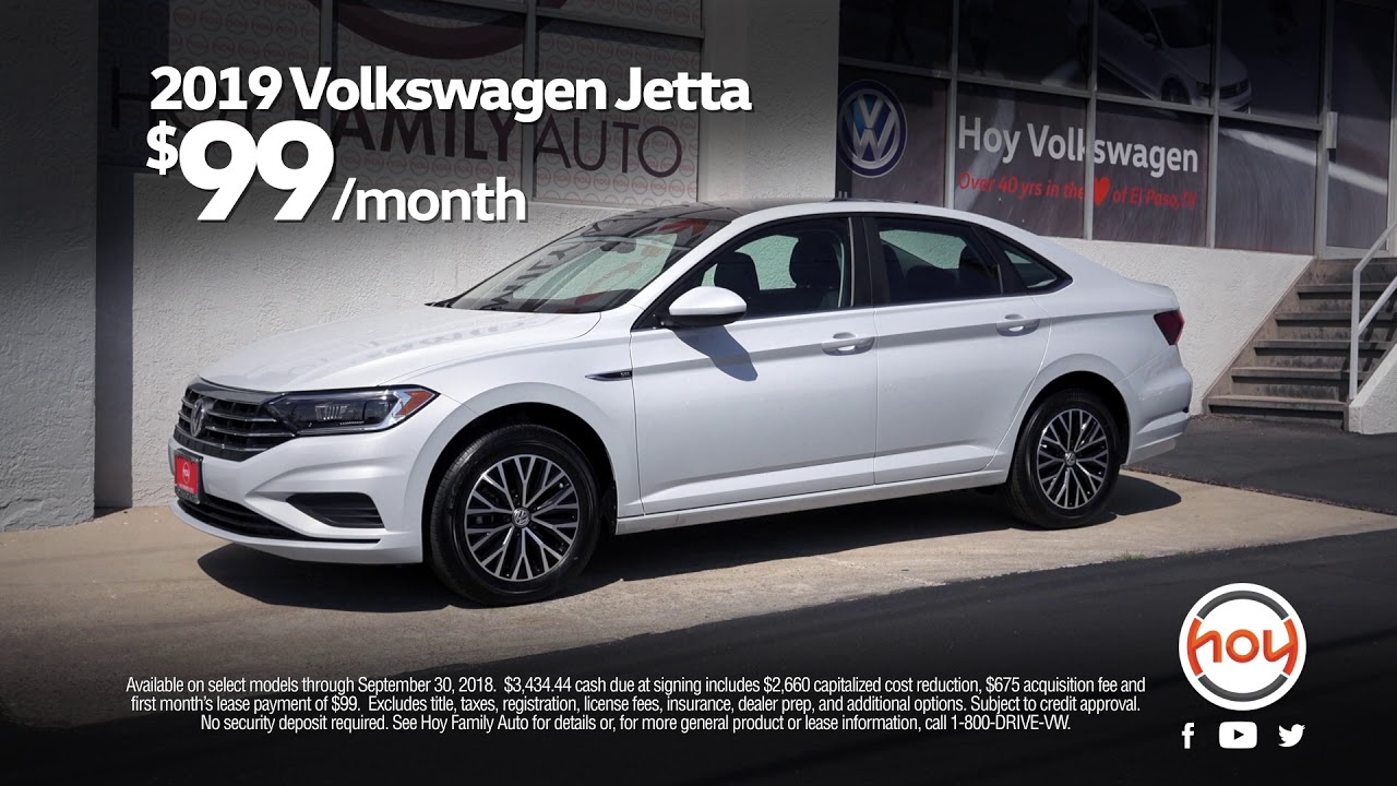 Hoy Volkswagen 99 Mo Sept Lease Special On The All New 2019 Jetta