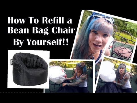 How To Refill A Big Joe Bean Bag Chair By Yourself Bonus How Not