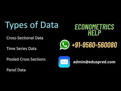 Econometrics: Types Of Data (Cross-Sectional And Time Series)