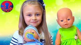 НОВАЯ КУКЛА для Ярославы! Распаковка и обзор Беби Бона Видео для детей Baby Born Doll