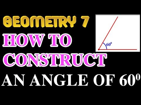 How to construct an angle of 60 degrees | Online Courses | Geometry 7 | Math Garden