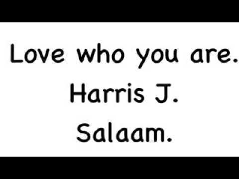 Wow harris j love who you are liric!