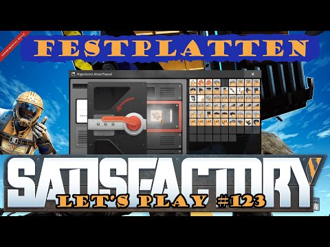 Satisfactory Let's Play 123 - Deutsch - Festplattensuche