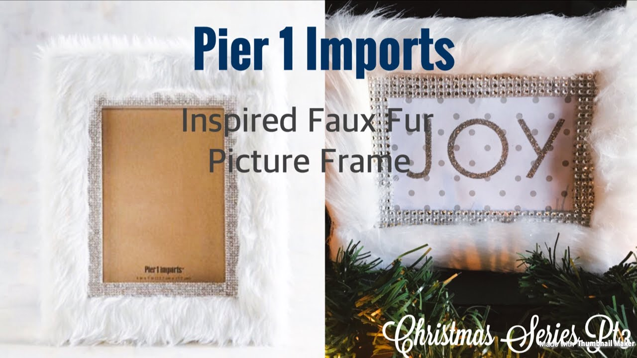 🦌❄️Diy- Pier 1 Imports Inspired Picture Frame🦌❄ Christmas ...