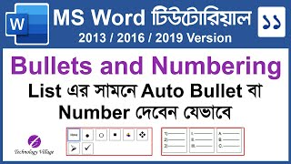 Bullets and Numbering in MS Wo…