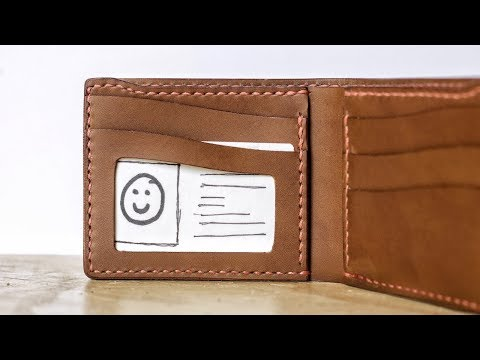 Making a Leather Bifold with an ID Pocket
