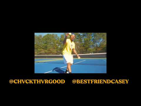 My first time playing tennis was in this video haha