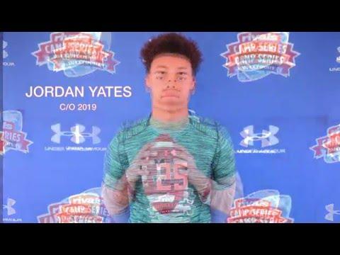 Jordan Yates - 2016 Rivals Inivitational QB Camp Presented By Under Armour
