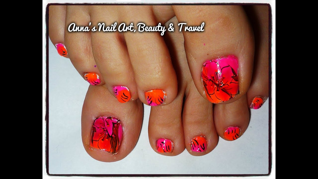 The Most Incredible toe nail designs bright colors intended for your ...