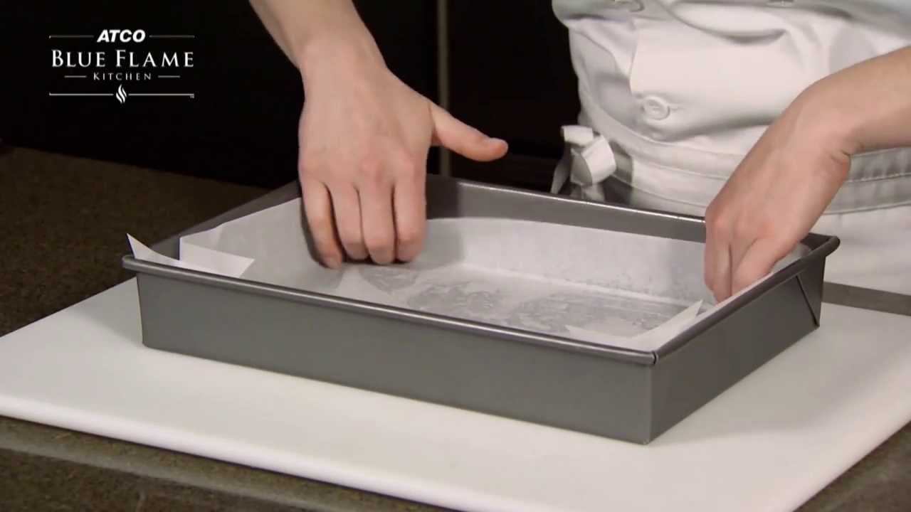 How To Line A Pan With Parchment Paper