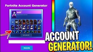 I've found a FORTNITE ACCOUNT GENERATORE!