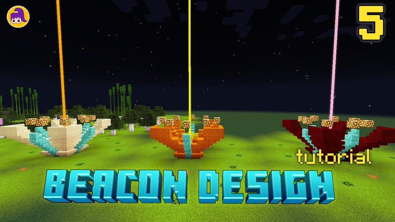 5 Beacon Design Ideas Minecraft Tutorial Youtube