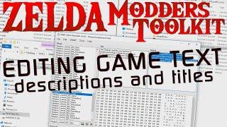 ZELDA BOTW MODDING | Editing All Text - Item Descriptions and Titles Demo