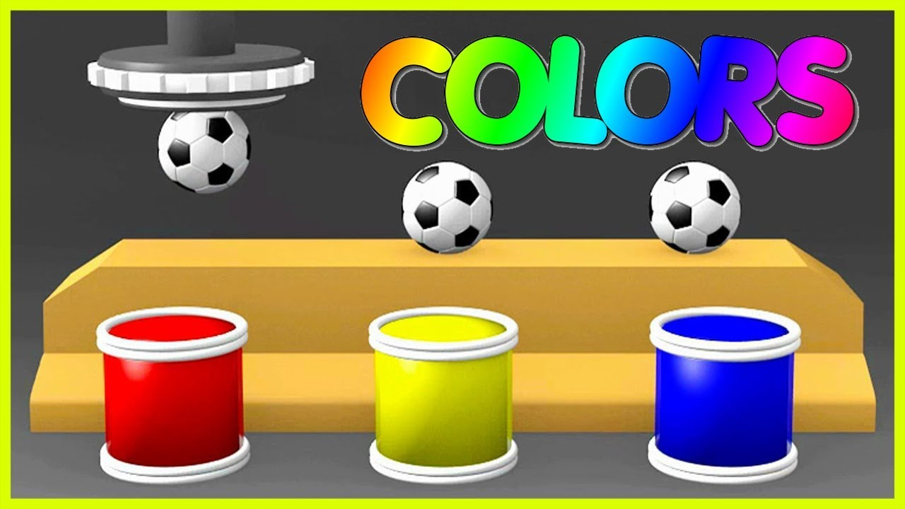 Learn Colors With Soccer Balls for Children - Learn Colors With Balls Surprise Eggs For Toddlers by Pili Toys T