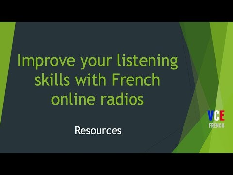 Improve your listening with French radios
