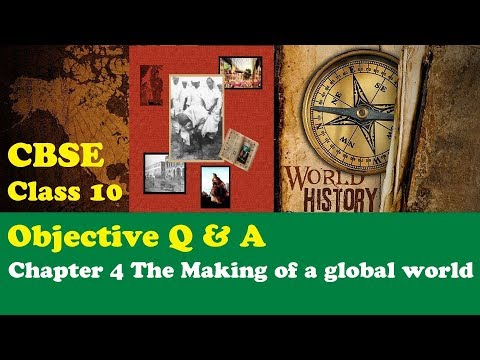 CBSE Class 10 History objective MCQs question answer Chapter 4 The Making of a global world