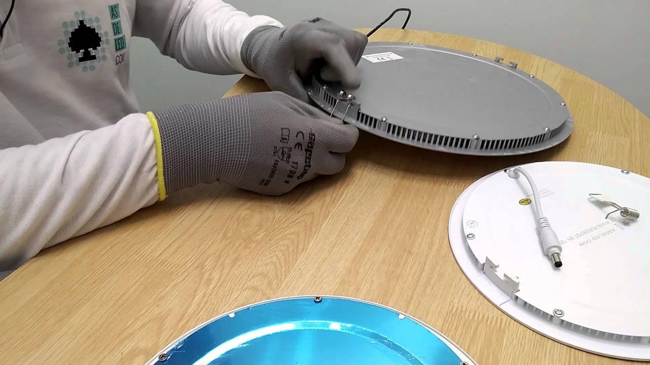 Ganchos de instalaci n y sujeci n en focos y paneles led - Como instalar lamparas led ...