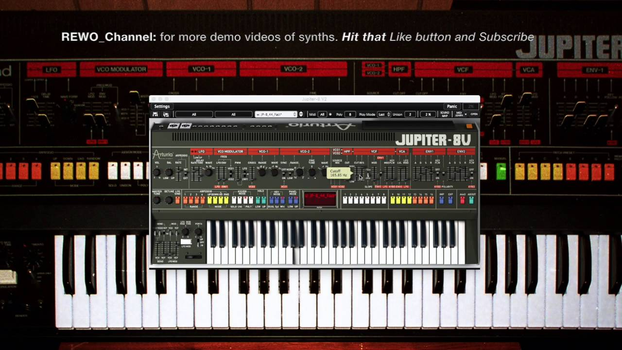 Arturia JUPITER 8 V Demo of the orginal sounds of the Roland Jupiter 8 and  more by REWO