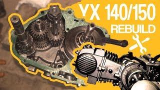 SKŁADANIE SILNIKA YX 140/150 (pitbike YCF,MRF,STOMP,LIFAN i inne) Engine YX type rebuild