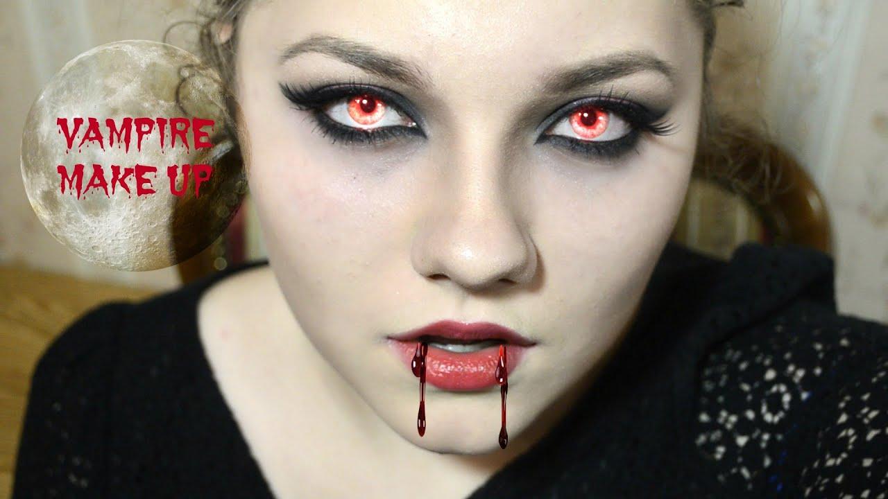 Макияж вампира на Хэллоиун