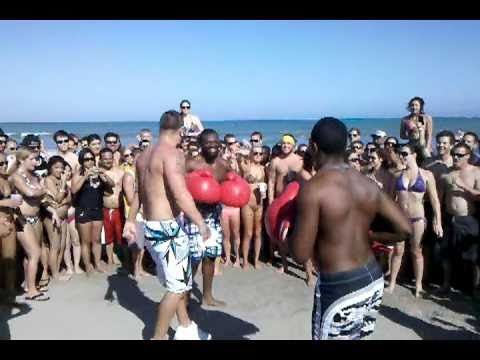 Guy Gets Leveled Boxing On Cocoa Beach Spring Break