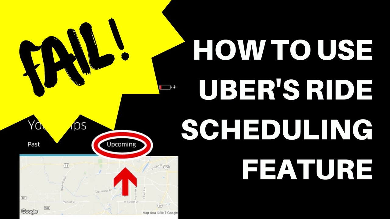 How To Use Uber S Schedule A Ride Function Fail