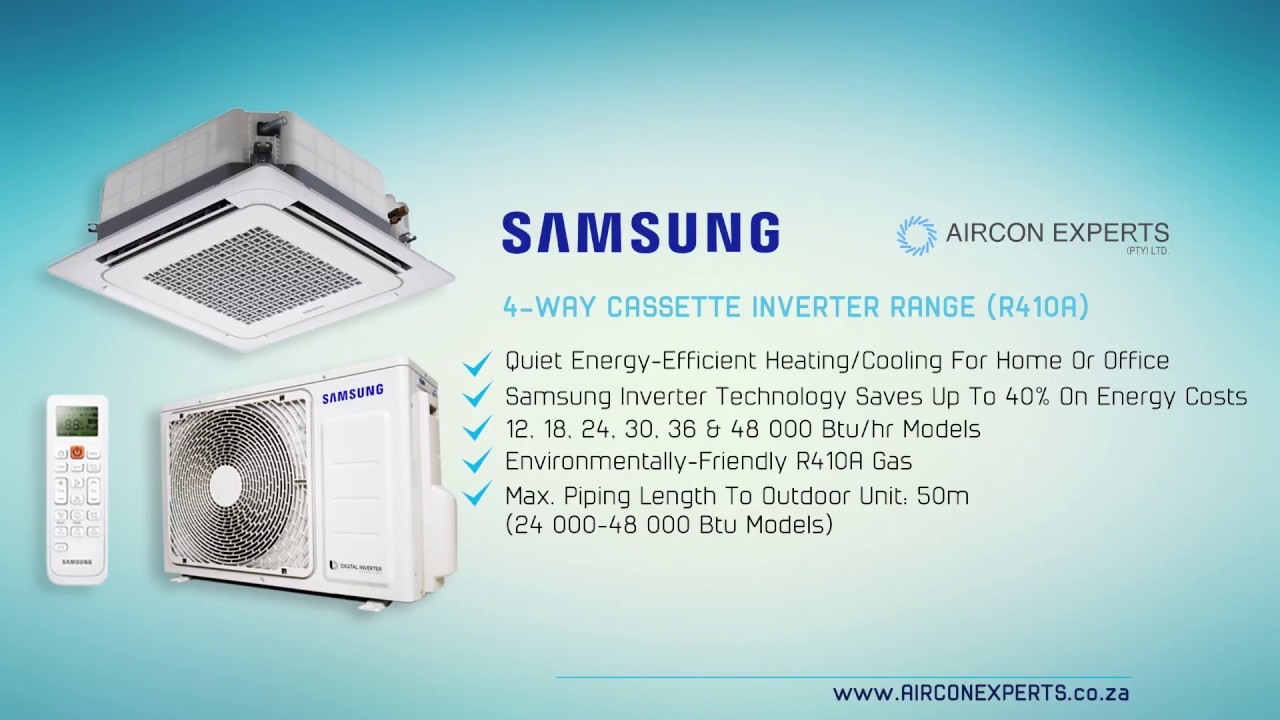 Samsung 4 Way Cassette Inverter Range Air Conditioning 1