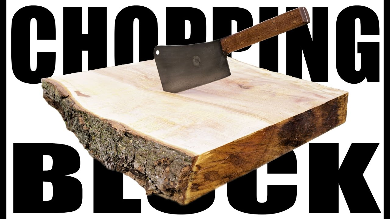 natural edge chopping block - furious pov build