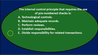 Multiple Choice Questions 3 - Cash and Internal Controls u