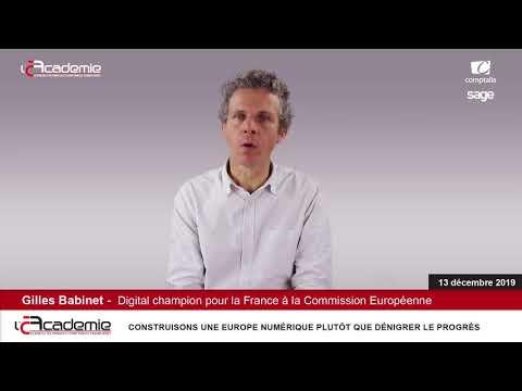 Les Entretiens de l'Académie : Gilles Babinet