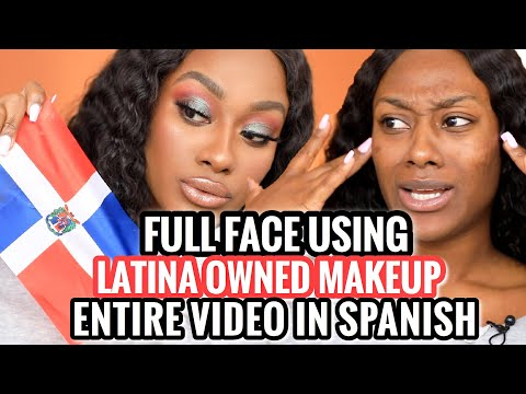 FULL FACE USING LATINA OWNED MAKEUP BRANDS!!! ENTIRE VIDEO IN SPANISH!!! OMGGG!!!! thumbnail