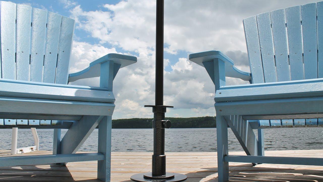 J Hook Umbrella Stand For Decks Amp Docks Assembly Video