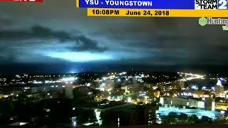 Transformer blows up as WKBN meteorologist gives forecast on air